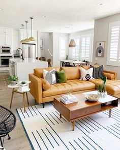 Thinking of renovating your living room? Then you've come at the right place! Here, collected 60 best small living room designs and living room decoration ideas. Living Room Goals, Living Room Trends, Living Room Inspiration, Rugs In Living Room, Living Room Furniture, Living Room Designs, Living Room Decor, Living Spaces, Furniture Inspiration