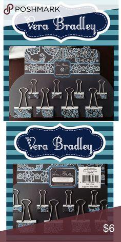 Vera Bradley Binder Clips BNIB! Adorable! Vera Bradley Accessories