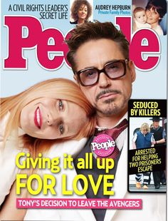 PEOPLE cover from MediAvengers - Tony gives up the Avengers for love. Marvel Comic Universe, Marvel Dc, Tony And Pepper, Civil Rights Leaders, Medium Blog, Man Thing Marvel, People Magazine, Robert Downey Jr, Secret Life