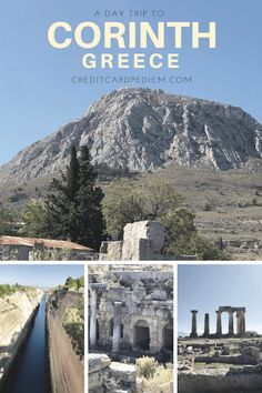 A Day Trip to Corinth, Greece - Cardpe Diem Known for its ancient and biblical ties, a day trip to Corinth is a must do on any itinerary of Greece and the Peloponnese. Greece Vacation, Greece Travel, Travel Info, Travel List, Corinth Greece, Places To Travel, Places To Visit, Great Vacations, Vacation Ideas