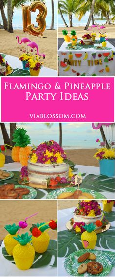 Planning a Chic Flamingo Party?  We've got you covered with all the Flamingo and Pineapple Party ideas for a fabulous Tropical Party!