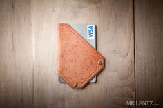 Thin Leather Wallet, Thin Card Wallet, Minimal Wallet, Leather Money Clip  006 on Etsy, $44.00