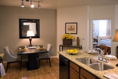 Small Kitchen Design - Apartment Decor Idea - Falls at Riverwood Apartments in Logan Utah