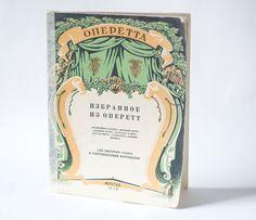 Fragments from operetta notebook music notebook rare by SovietEra