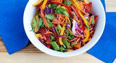 Rainbow Slaw Salad #justeatrealfood #bakedbree
