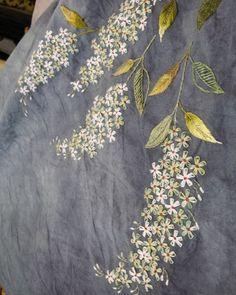 #embroidery #야생화자수 #천연염색