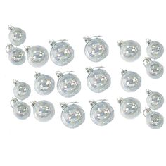 Amazon.com - Kurt Adler 20-Piece Iridescent Glass Ball Ornament Set - Christmas Ornaments Sets