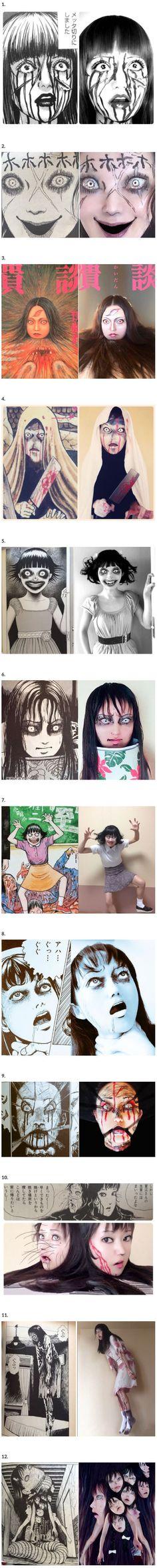 This Japanese Cosplayer Ikura Brings Creepy Manga into Terrifying Reality