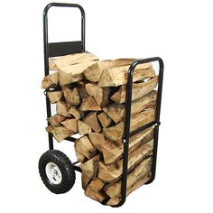 Firewood Log Cart Carrying Trolley Portable Indoor Outdoor Fire Wood Carrier for sale Firewood Logs, Firewood Storage, Indoor Firewood Rack, Fireplace Logs, Fireplace Inserts, Fireplace Ideas, Fireplace Design, Fireplace Cover, Wood Cart