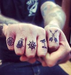knuckle / Tattoo / Fingers / Ink