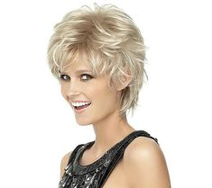 Sleek Blonde Wavy Synthetic Short Wigs, Human Hair Short Wig, Short Curly Wigs for Women Short Spiky Hairstyles, Short Hairstyles For Women, Wig Hairstyles, Pixie Haircuts, Hairstyles 2016, Elsa Hairstyle, Medium Hairstyles, Black Hairstyles, Natural Hairstyles