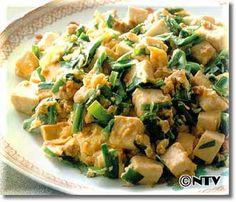 豆腐とにらの炒めもののレシピ|キユーピー3分クッキング