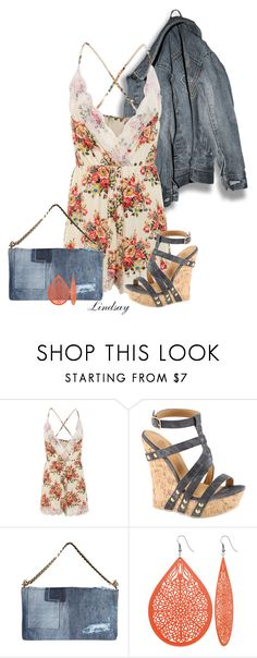 """""""Lace Trimmed Floral Print Cami Romper"""" by lindsayd78 ❤ liked on Polyvore featuring Dsquared2"""