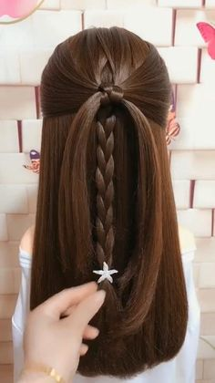 Easy Hairstyles For Medium Hair, Step By Step Hairstyles, Braids For Long Hair, Braided Hairstyles, Cool Hairstyles, Simple Hairstyle Video, Simple Homecoming Hairstyles, Back To School Hairstyles Easy, Updo Hairstyles For Prom