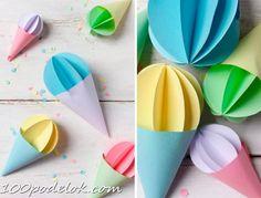 Мороженое из бумаги | 100 ПОДЕЛОК Summer Crafts, Diy And Crafts, Nursing Home Crafts, Diy For Kids, Crafts For Kids, Diy Paper, Paper Crafts, Vegetable Crafts, Cat Flowers