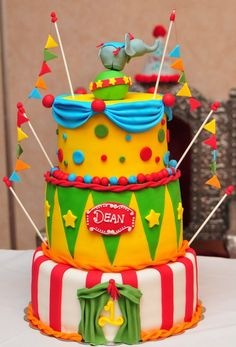 Circus theme birthday cake!