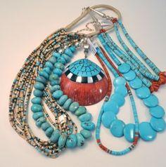 Pueblo turquoise jewelry
