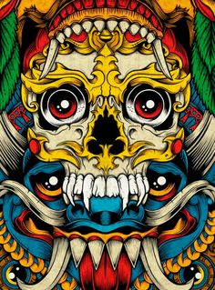 Pale Horse « GraphicLust. I like this piece because its really colourful and also quite demonic.