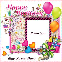 Are you planning for surprising your best friend? Here are the best ideas and option for surprising your best friend. We are here to help you to create a birthday cake with photo frame with unique and different designs. Birthday Wishes With Photo, Happy Birthday Cake Photo, Birthday Photo Frame, Birthday Cake Write Name, Birthday Wishes With Name, Happy Birthday Cake Pictures, Happy Birthday Kids, Happy Birthday Frame, Happy Birthday Posters