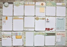 DIY Project Life Journal Cards - Love these! Starting to create my own cards, these will be great to lift!