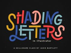 Shading Letters in Illustrator by Jake Bartlett #Design Popular #Dribbble #shots