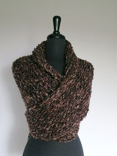 Outlander Inspired Dark Brown Color Knitted by KnitsomeStudio