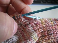SockKnitting With NO Holes: This way, there will be virtually no holes between the the heel flap and top of the sock, and the slightly larger gaps are closed neatly on the next row. This is how I do it!
