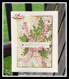 Cut Image, Specialty Paper, Embossing Folder, Laser Cutting, Stampin Up, Card Making, Happy Birthday, Paper Crafts, Frame