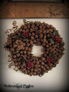 Acorn Wreath Crafts | Acorn wreath