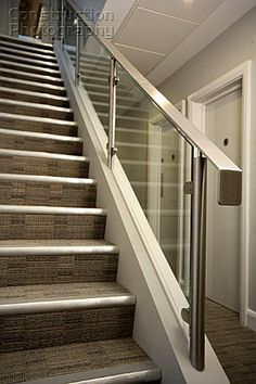 Metal Stair Banister View deck railing ideas http://awoodrailing.com