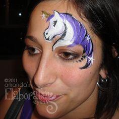 Unicorn Face Paint ... Eenhoorn schmink