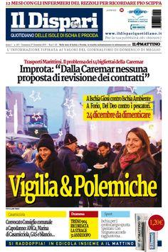 La copertina del 27 dicembre 2015 #ischia #ildispari