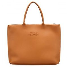 Letter Embossed Faux Leather Tote Bag - BROWN