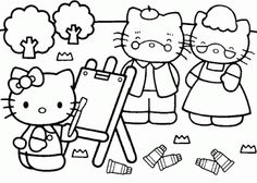 Free Printable Baby Hello kitty Coloring Pages for Kids Picture 16 Picture Hello Kitty Fotos, Hello Kitty Items, Free Printable Coloring Pages, Coloring Book Pages, Hello Kitty Drawing, Hello Kitty Colouring Pages, Hello Kitty Pictures, Coloring Sheets For Kids, Color Activities