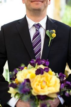 colors for my wedding- purple and yellow. what a pair?!