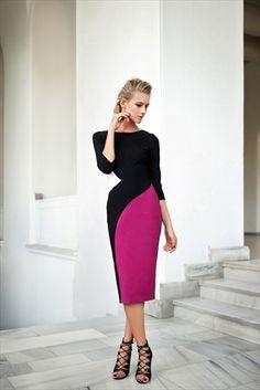 Milla by trendyol - 3 Renkli Blok Elbise MLWAW153969 sadece 89,99TL ile Trendyol da