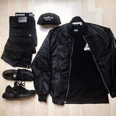 Outfit grid - All black