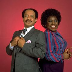 "Sherman Hemsley (left) and Isabel Sanford portrayed a married couple in ""The Jeffersons."" (CBS Photo Archive, Viacom International, Inc.)"