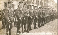 Tense wait: Grenadier guards waiting for their orders to ship out in 1914