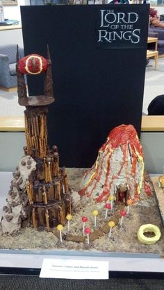 This delectable Mount Doom from Lord of the Rings. | 13 Epic Gingerbread Houses Inspired By Your Favorite Movie And TV Shows