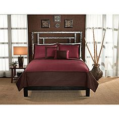 @Overstock - Enjoy a comfortable night's sleep with a new quilt set  Bedding set includes one quilt and two pillow shams (one with twin)  Quilt set features a quilted microfiber cover in a channel patternhttp://www.overstock.com/Bedding-Bath/Barclay-Hotel-Chocolate-and-Brick-Quilt-Set/4134930/product.html?CID=214117 $49.99