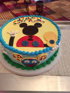 Jack's Mickey Mouse Clubhouse cake