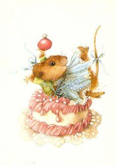 Marjolein Bastin By:Vera de muis Art Fantaisiste, Marjolein Bastin, Motifs Animal, Nature Artists, Dibujos Cute, Cute Mouse, Dutch Artists, Beatrix Potter, Children's Book Illustration