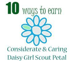 Girl scout law color coded to the daisy petals my kind for Considerate and caring coloring page
