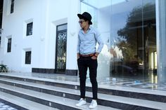 H&M, Adidas Stan Smith, Zara Fedoras, Botini Accessories, Massimo Dutti - Simplicity is beauty. Mens fashion style