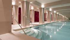 La Réserve Hôtel & Spa, Paris 8è, indoor luxury swimming pool and spa.