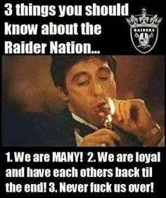 Raiders shall rise again....Believe that.