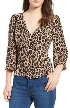 button front print blouse (regular & plus size) tops blo Big Fashion, Autumn Fashion, Fashion Outfits, Workwear Fashion, Fashion Blogs, Fashion Trends, Blouse Styles, Blouse Designs, Moda Chic