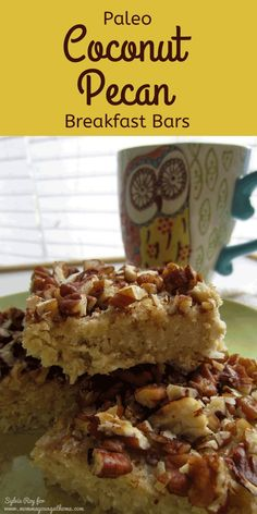 These look yummy! Paleo Coconut Pecan Breakfast Bars - can't have enough easy freezer recipes!