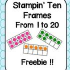 In this freebie, students are presented with blank ten frames and a number from one to twenty. Students must identify the number and use bingo daub...